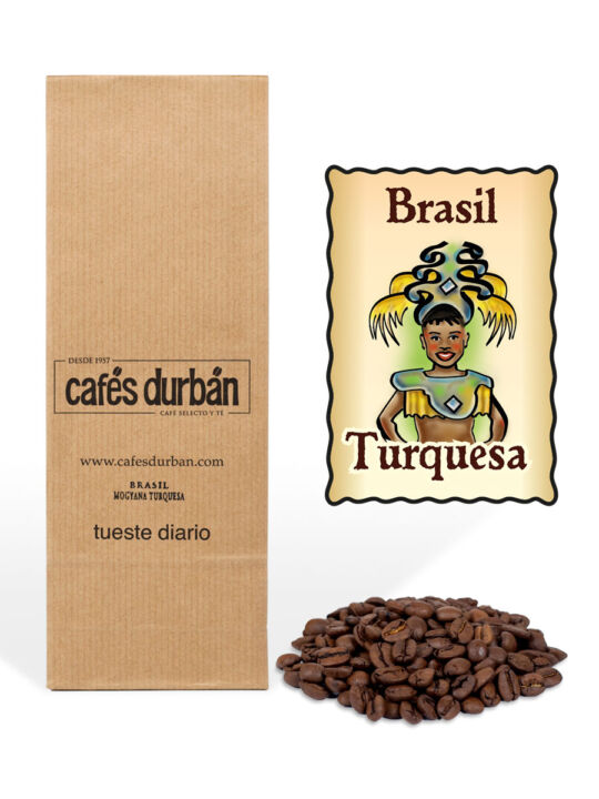 Café Brasil Mogiana Turquesa en grano (250 gr)
