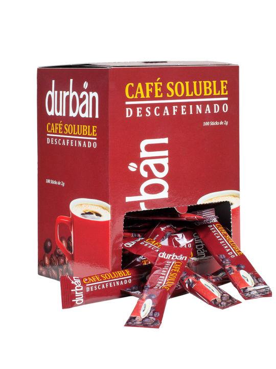 Caja Café Durbán soluble Descafeinado (Formato tubo)
