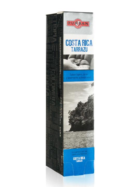 Caja Cápsulas Cafés Durbán Costa Rica Tarrazu